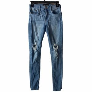 Express Classic Washed Distressed Skinny Jeans